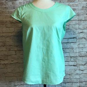 Mint green J. Crew blouse